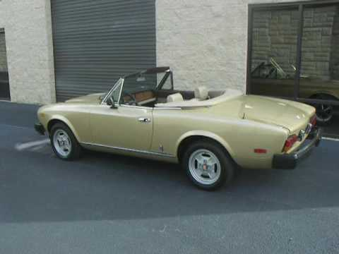 1981 Fiat Spider 2000 Limited Edition For Sale Now - YouTube