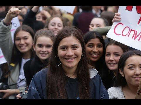 Hundreds join protest against rape culture