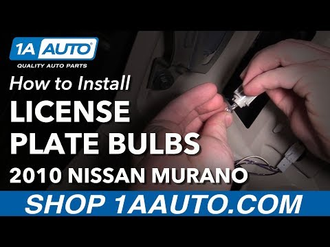 How to Install Replace LIcense Plate Light Bulbs 2010 Nissan Murano