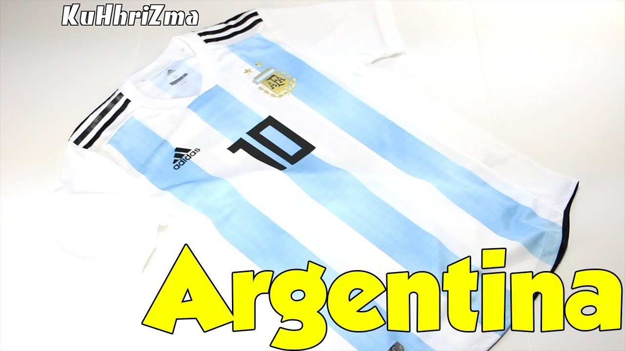 ace82354a World Cup 2018 Adidas Home Argentina Messi Jersey Unboxing + Review ...