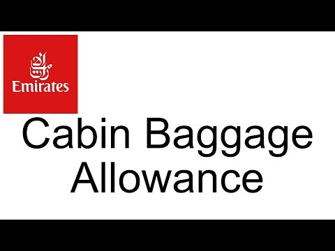 Emirates Airlines Hand Luggage Allowance Travel Faq Help