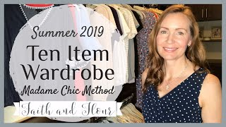 Ten Item Wardrobe Summer 2019   Closet Tour   Extras and Out of Season Clothing