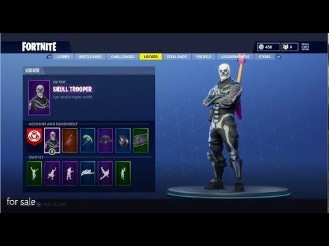 Selling Fortnite Account Low Price Skull Trooper Skin 10