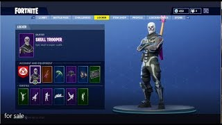 SELLING FORTNITE ACCOUNT! | Low Price + Skull Trooper Skin [10+ Skins] *RARE*