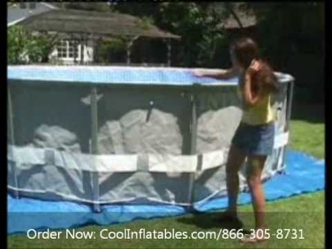 Intex Round Metal Ultra Frame Pool Setup Instructions Youtube