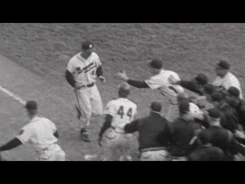 WS1957 Gm4: Mathews hits a walk-off homer for Braves