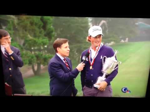 Webb Simpson US Open Interview Bird Man Photobomb