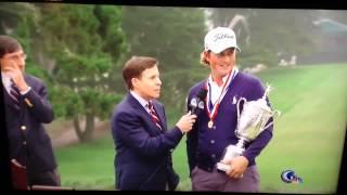 Webb Simpson US Open Interview Bird Man Photobomb thumbnail