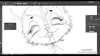 Adobe Illustrator. Создание персонажных иллюстраций. Урок 1. Базовы контур. (Борис Поташник)