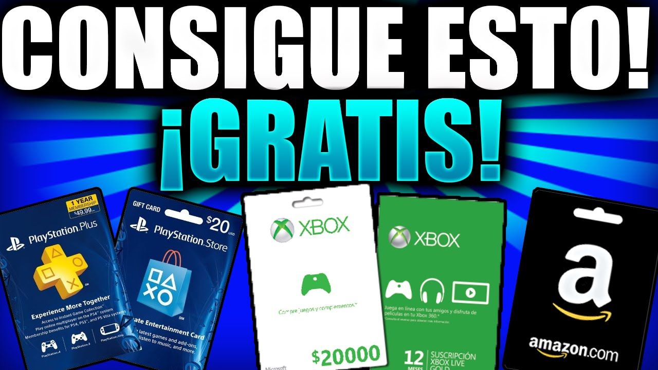 Conseguir Codigos Tarjetas Dinero Psn Xbox Live Amazon Gratis