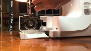 Как научиться шить. Обзор швейной машинки Janome EL532. Вдевание нити