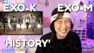 EXO-K & EXO-M 'History' MV (Korean & Chinese Ver.) REACTION | EXO-CISE WITH ME! (Day 3)