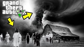 SCARY TORNADO AND ZOMBIES - GTA 5 SURVIVAL MOD GAMEPLAY!!!