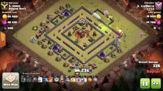 Clash of Clans, Valkyrie attack, TH10 100%, 3 Stars, attack 116