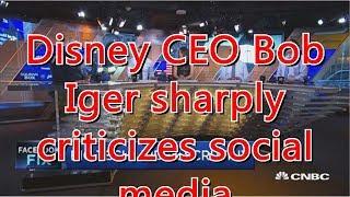 Disney CEO Bob Iger sharply criticizes social media