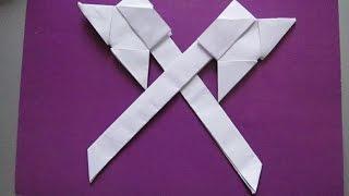ТОПОРИК из БУМАГИ. Оригами Своими Руками для Начинающих. Видео
