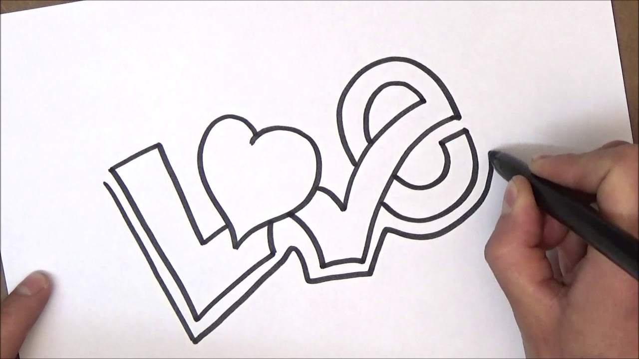how to draw love - YouTube