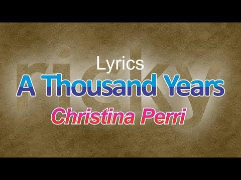 Video Lirik Lagu A Thousand Years (Terjemahan Bahasa Indonesia) - Christina Perri   Ricky Adam