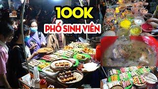 Cầm 100K ăn sạch phố ẩm thực chợ đêm sinh Đại Học Bách Khoa Hà Nội #hnp