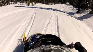 Snowmobiling Iron Mountain, California Amador County Sierra Nevadas - Part 1