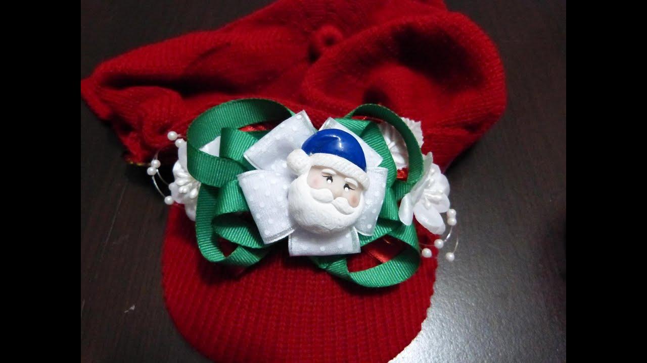 Mo os navide os en cinta de raso para decorar gorros n for Monos navidenos