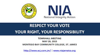 ECJ & NIA - Respect Your Vote Townhall Meeting (#1)