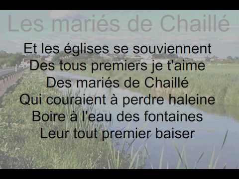 Les mariés de Chaillé en Vendée par Anais et Didier Barbelivien