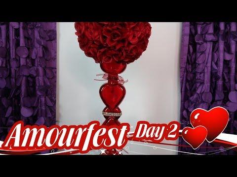 Dollar Tree Valentine's Day Centerpiece Centerpiece | Hearts A Plenty - Amourfest Day 2