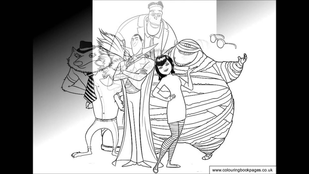 hotel transylvania colouring pages and kids colouring game