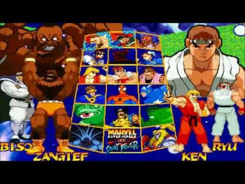 Fightcade - Marvel Super Heroes Vs Street Fighter - Jeff(USA) Vs PlasmaSlashX(USA)