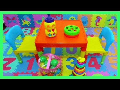Decorate Your Playroom with Colorful Puzzle Mats, Toys, Table, and Chairs