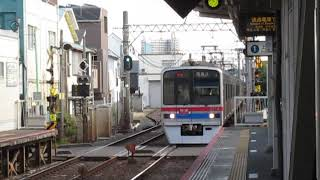 京成3700形3718F海神駅通過※接近メロディー「GO!GO!トリトン1番線通過Ver」あり