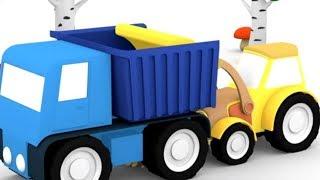 Песенки для детей про Рабочие машины - Детские мультики