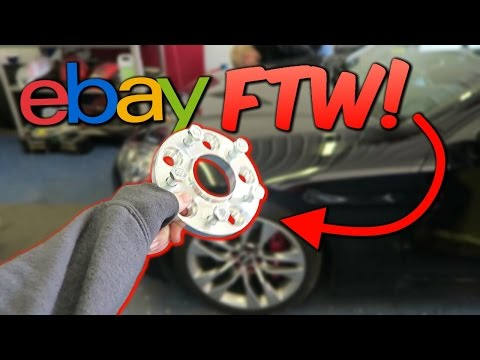 Putting EBAY Wheel Spacers on My Car.