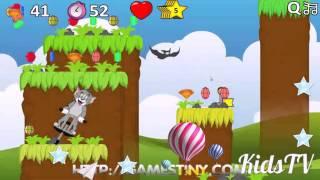 мультик игра Том и Джери прыжки через препятствияя
