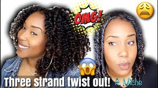 MY THREE STRAND TWIST OUT!!!! | Y'ALL, OMG!!! ft. MICHE BEAUTY