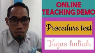 Online teaching demo on procedure text (tugas kuliah) 🇮🇩🇲🇾