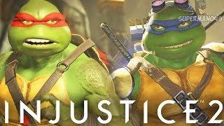 """NINJA TURTLES BATTLE! RAPHAEL VS LEONARDO - Injustice 2: """"Raphael"""" ..."""