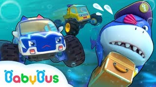 Biệt đội xe quái xế và cá mập cướp biển | Truy tìm hộp bưu kiện | Nhạc thiếu nhi vui nhộn | BabyBus