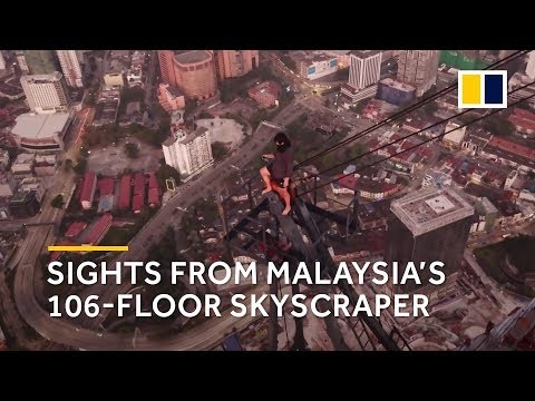 Rooftopper climbs tallest building in Southeast Asia harness-free
