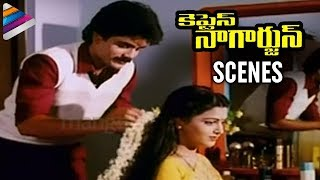 Captain Nagarjuna Movie Scenes   Nagarjuna and Kushboo Getting Married