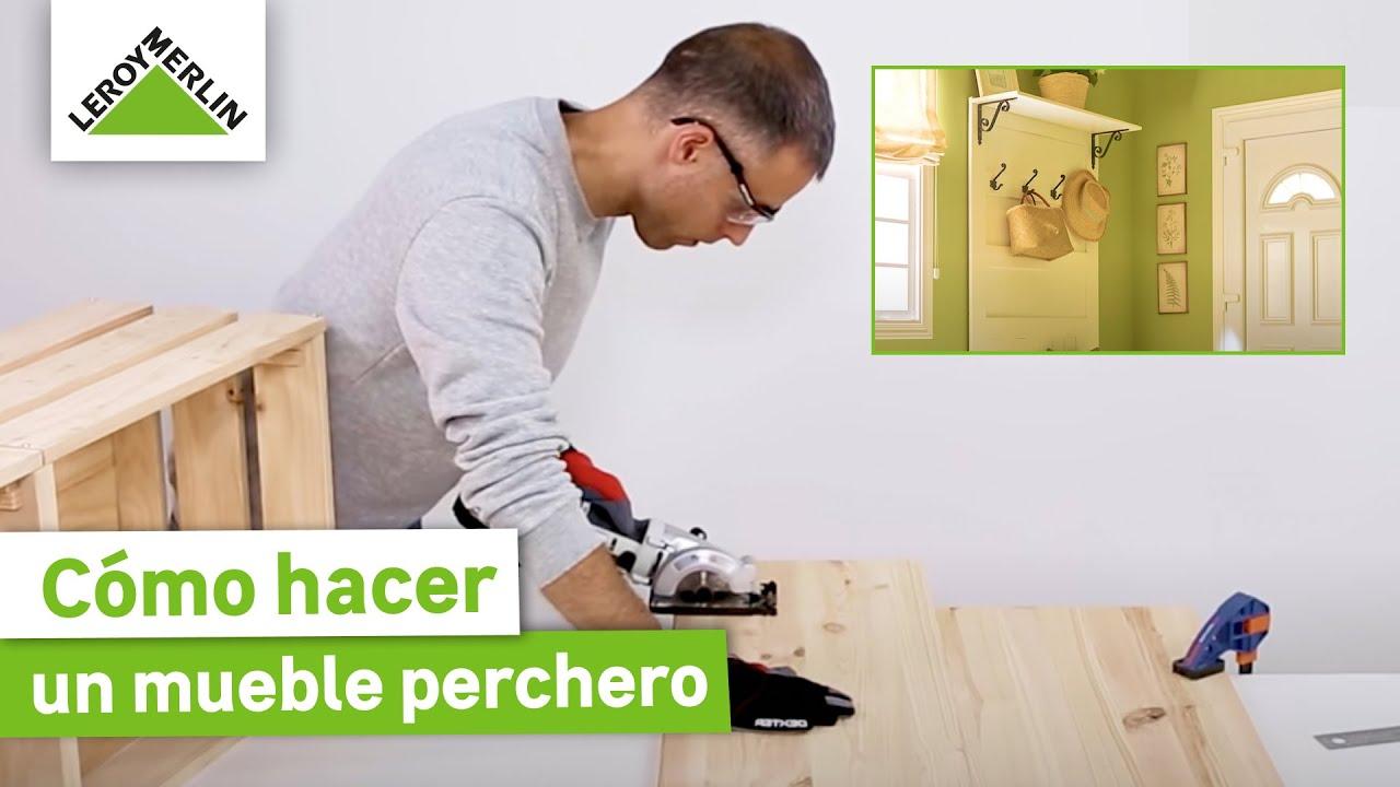 envío complementario sección especial variedad de diseños y colores Como hacer un mueble perchero · LEROY MERLIN