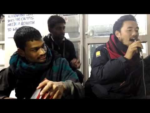 Inki surat ko pehchano bhai- songs of resistance at JNU AD BLOC BLOCKADE
