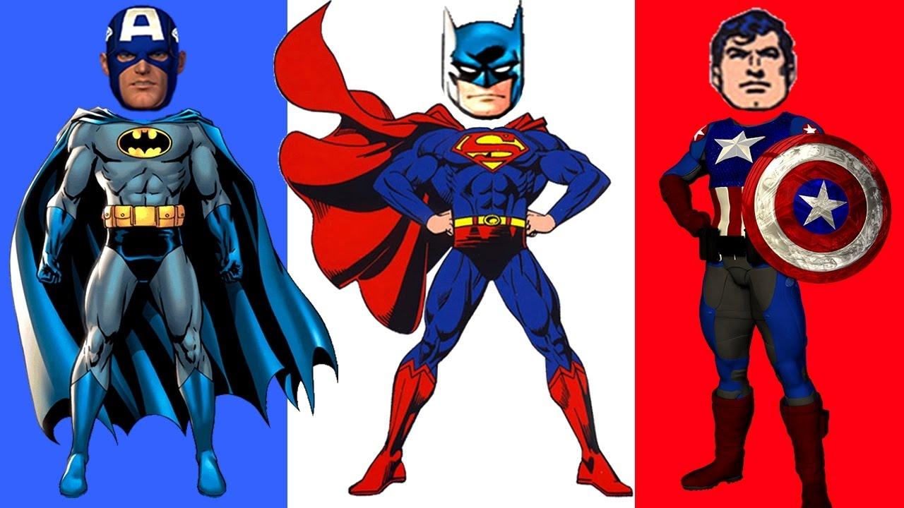Superman Batman Captain America Coloring Pages For Kids Book