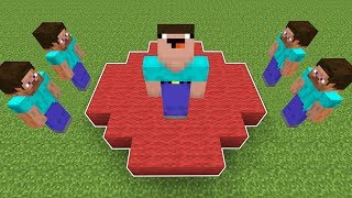 НУБ СКИНУЛ ВСЕХ С КРАСНОГО КРУГА И ВЫИГРАЛ В МАЙНКРАФТ  НУБИК ПРОТИВ ТРОЛЛИНГ Minecraft Мультик
