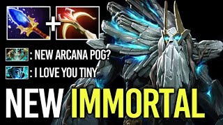 NEW BADASS IMMORTAL TINY Prestige Item TI9 Crazy Gameplay by W1sh Top Pro 7.22 Dota 2