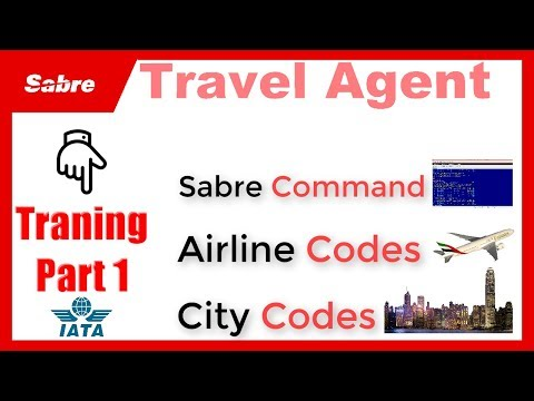 Online Travel Agent Course Part 1 | Learn City Airport Codes & Sabre Commands