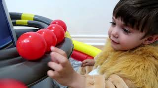 Learn Colors with Paw Patrol Giant Inflatable Lookout Tower Playland Ball Pit