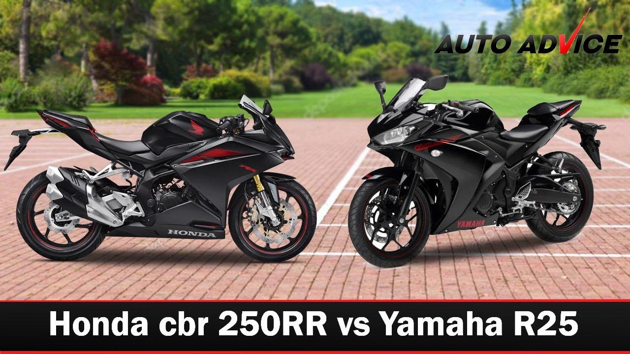 Honda Cbr 250rr Vs Yamaha R25 Auto Advice Youtube