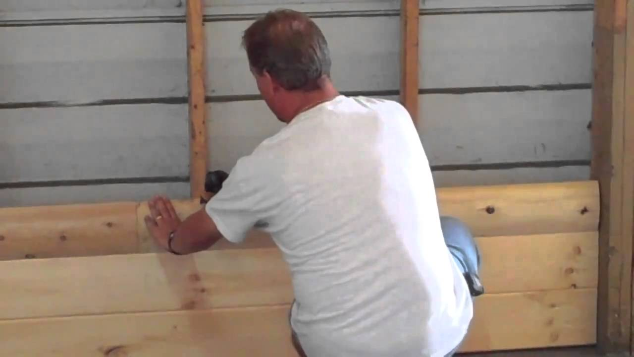 How To Install Homestead Timbers Half Log Siding Youtube